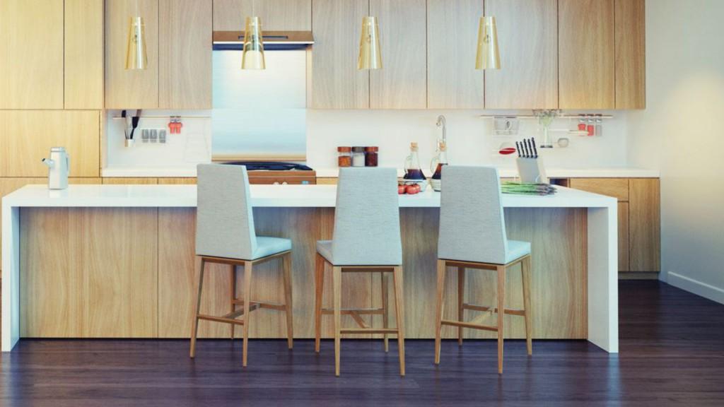 photo parquet dans cuisine