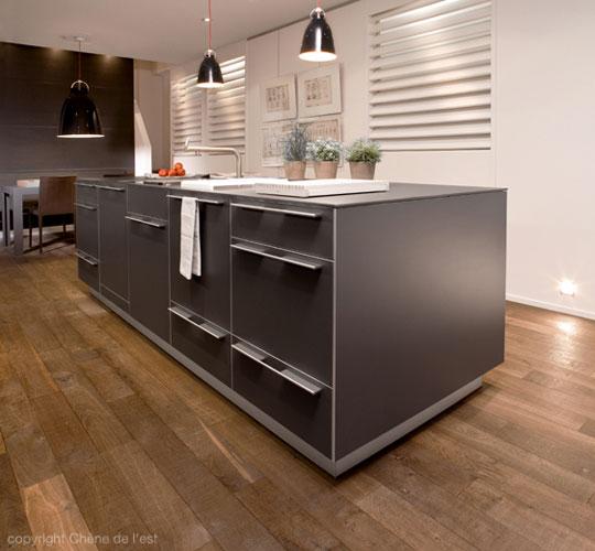 modèle parquet dans cuisine