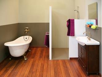 image parquet dans salle de bain