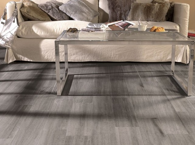 exemple parquet imitation carrelage gris