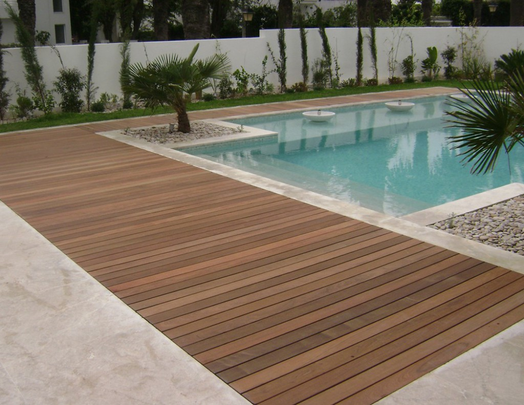 photo parquet jardin
