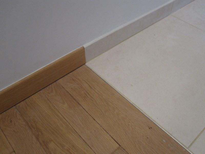photo parquet sur carrelage
