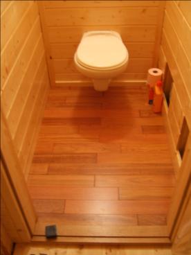 superbe parquet wc
